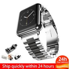 Ремешок из нержавеющей стали для Apple Watch Band 5 4 3 40 мм 44 мм ремешок 38 мм 42 мм Браслет спортивный ремешок для iWatch 5 4 3(Китай)