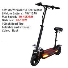 Бесплатная доставка 48V500W электрический скутер 26AH батарея 100 км Расстояние 10 дюймов полных шин длинный скейтборд Escooter Patinete Eletrico(Китай)