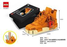 AJ обувь строительные блоки фигурки совместимы с Technic Airs Jordans Строительные кирпичи с оригинальной коробкой игрушка подарок(Китай)