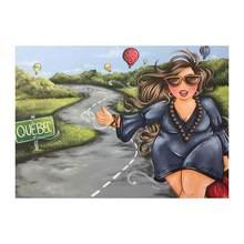 Алмазная картина полная дрель Очаровательная леди вышивка стразами девушка Безрамное мультяшное украшение на стену алмазное искусство(Китай)