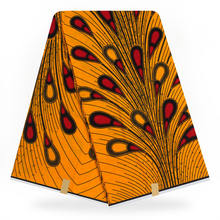 3 ярд оригинальная Настоящая Африканская ткань с восковой печатью ткань для свадебного платья африканская ткань 100% хлопок Анкара ткань вос...(China)