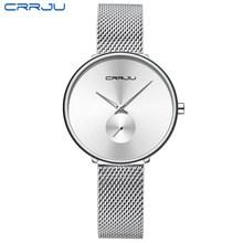 CRRJU 2165, красивый дизайн, часы для женщин, модные, повседневные, стальная сетка, наручные часы, женские часы, женские кварцевые часы(Китай)