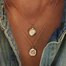 Богемное ожерелье s & Кулоны, винтажное многослойное колье, ожерелье для женщин, модный воротник, колье, Femme Moon, ювелирное изделие, аксессуары(Китай)