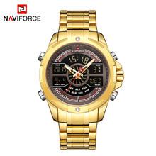 NAVIFORCE роскошные часы для мужчин s водонепроницаемые аналоговые цифровые спортивные военные кварцевые наручные часы для мужчин часы Relogio ...(China)