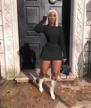 Echoine/осенние Топы с длинными рукавами, Лоскутная мини-юбка, комплект, фиолетовый комплект из двух предметов, сексуальный обтягивающий женск...(Китай)