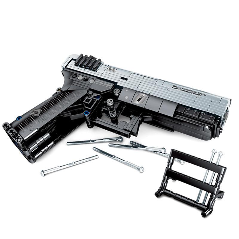 SY7053 378 шт. оружие P18 пистолет Модель игры для стрельбы в мир Строительные кирпичи блоки детские игрушки Совместимые Legoings военные(Китай)