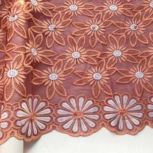 Новейшая нигерийская кружевная ткань желтая африканская Свадебная кружевная ткань свадебное платье шелковая молочная французская кружев...(Китай)