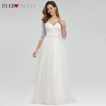 Элегантные платья для выпускного вечера Ever Pretty EP00806 А-силуэта с двойным v-образным вырезом и рукавом 3/4, расшитые блестками блестящие кружевн...(Китай)