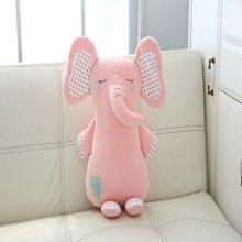 1 шт., милые плюшевые игрушечные слоны с изображением слона, милые плюшевые игрушки, удобные детские мягкие Слоны, украшение для детской комн...(Китай)