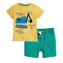 Одежда Mardi gras; Новинка; модная футболка с буквенным принтом для маленьких мальчиков; комплект с шортами; детская одежда для мальчиков; 2020(Китай)