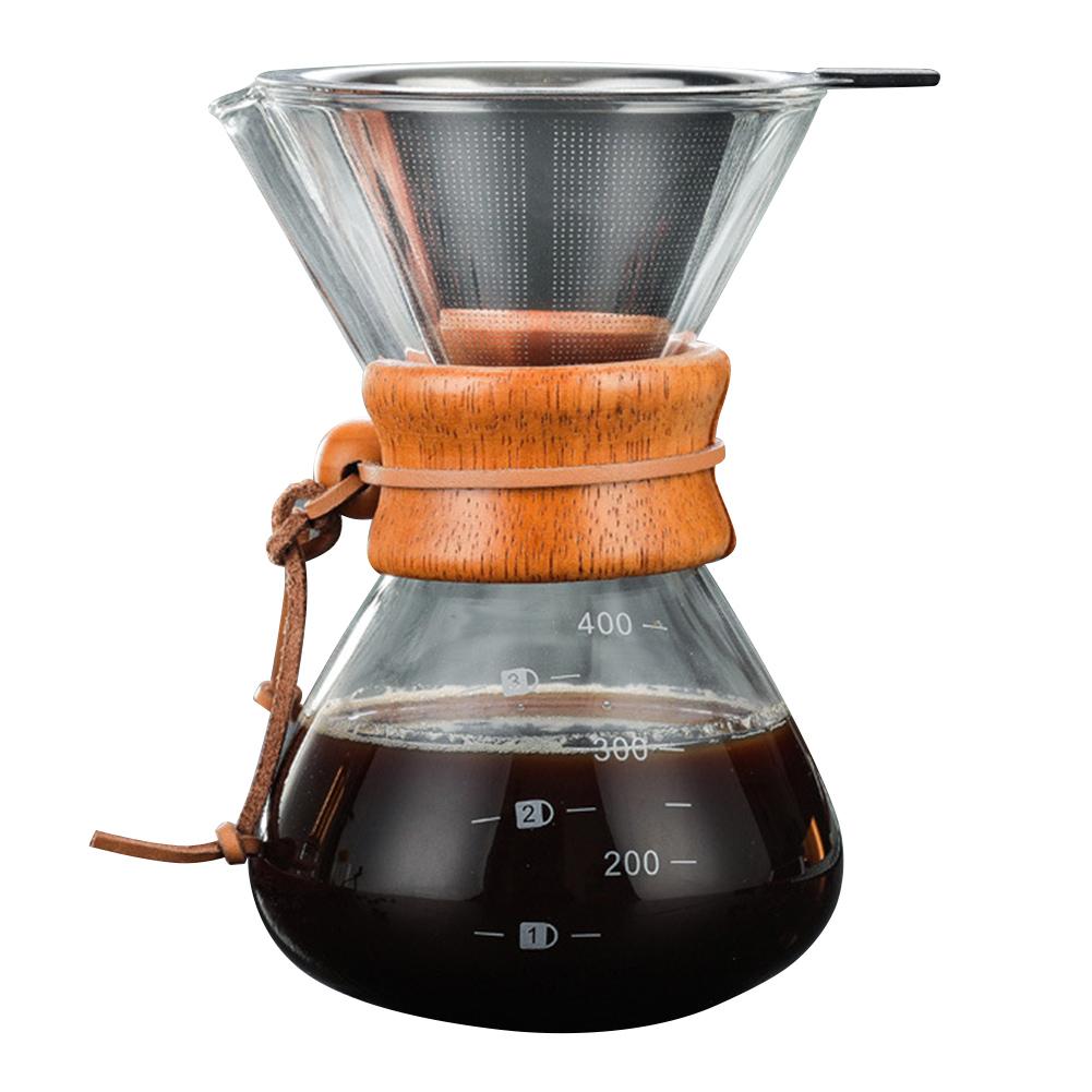 2019 Горячая налить над кофеварка с боросиликатного стекла руководство кофе капельница пивовар I88 #1(Китай)