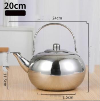 Толстая нержавеющая сталь чайник с фильтр для кофе и чая дом отель индукционная плита для ресторанов горшок 1/1,2/л(Китай)