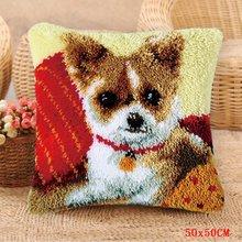 Посылка с кнопками на подушку, наборы крючков для ковров Foamiran, игла для собак, Набор для вышивки ковров, подушка для рукоделия Smyrna(Китай)