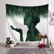 Большой деревянный теневой гобелен, настенный психоделический гобелен, настенный тканевый Декор, индивидуальный мандаловый плед, пляжный ...(Китай)