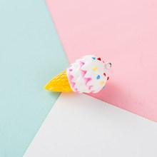 6 шт./лот брелок для мороженого Шарм DIY Аксессуары для изготовления ювелирных изделий 4*2 см красочные смолы ручной работы с крючком брелки дл...(Китай)