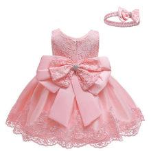 Платье для новорожденных девочек, белое кружевное платье для крещения для девочек 1-10 лет, одежда для дня рождения, свадьбы, 2020(Китай)