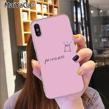 MaiYaCa розовый силиконовый чехол принцессы ТПУ для телефона Apple iphone 11 pro 8 7 66S Plus X XS MAX 5s SE XR мобильные чехлы(Китай)