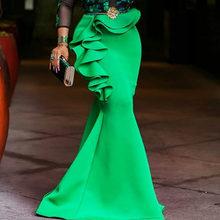 Африканские женские платья размера плюс, облегающие длинные вечерние платья русалки, сексуальное прозрачное Сетчатое платье с оборками, же...(Китай)