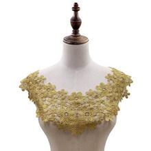 Кружевная ткань с вышивкой ярких цветов, разноцветная ажурная кружевная ткань для платьев, одежда с аппликацией и вырезом, швейные принадле...(Китай)