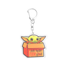 Модный милый Yoda детский металлический брелок, сумка, аксессуары, коллекция фильмов, любовник, брелок для мужчин, женщин, детей, подарки, ювел...(Китай)
