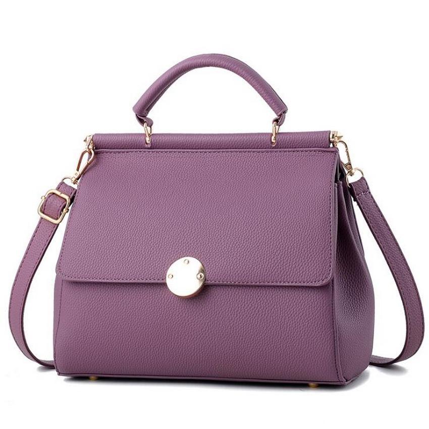 2020 Брендовые женские сумки через плечо с двойным карманом из искусственной кожи, женские повседневные сумки с застежкой, сумки через плечо, ...(Китай)