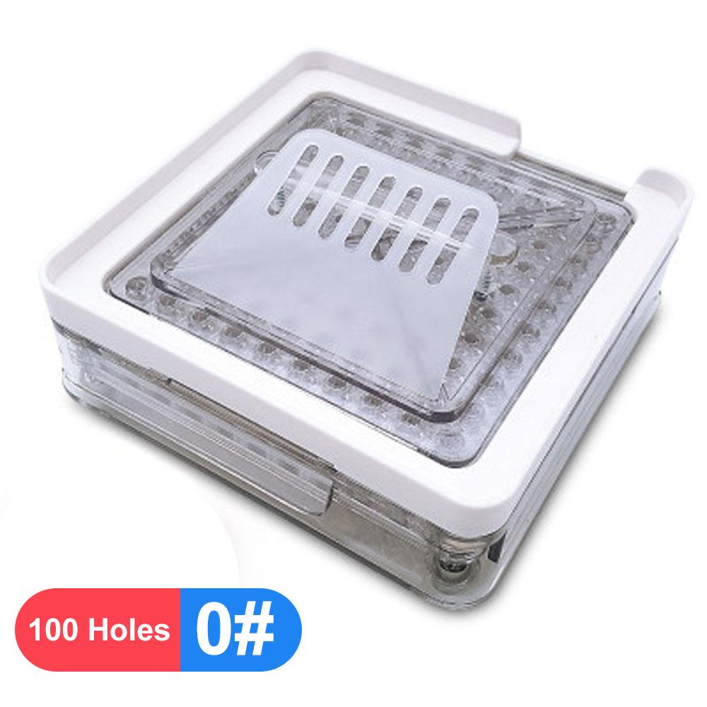 1 #0 #00 #100 отверстие машина для ручного наполнения капсул прозрачная акриловая Капсульная пластина наполнитель Капсула-наполнитель(Китай)