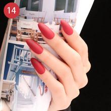 Накладные ногти, матовые накладные ногти, 24 шт., съемные кончики для наращивания ногтей, маникюр, искусство, пресс на поддельные накладные но...(Китай)