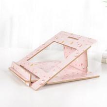 Портативная бамбуковая подставка для ноутбука складной держатель для ноутбука для Macbook Pro Air Tablet lapнастольная охлаждающая подставка для ком...(Китай)