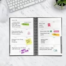 NEWYES 2,0 умный многоразовый стираемый A5 ноутбук повесток дня Планировщик Еженедельный спиральный ежемесячный график книга годовой крафт бум...(Китай)