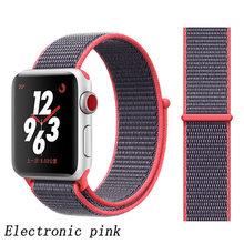 Спортивный нейлоновый ремешок для apple watch 42 мм 38 мм iwatch 4 5 полос 44 мм 40 мм мягкий дышащий нейлоновый ремешок для apple watch 40 мм(Китай)