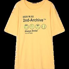 Женская футболка с коротким рукавом SAM'S TREE, Повседневная футболка большого размера с принтом в стиле Харадзюку, с принтом смайлика, лето 2020(China)