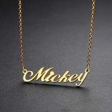 Персонализированное имя Vnox, ожерелье из нержавеющей стали, на заказ, с любым именем, ювелирное изделие для женщин(Китай)