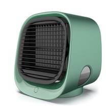 Мини портативный кондиционер домашний Кондиционер увлажнитель воздуха очиститель USB Настольный воздушный охладитель вентилятор для офисн...(Китай)