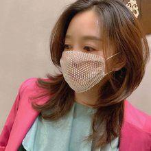 Модные Стразы ручной работы, маска сделает вашу маску красивой женские аксессуары модные ювелирные изделия многоразовые маски для взрослы...(Китай)