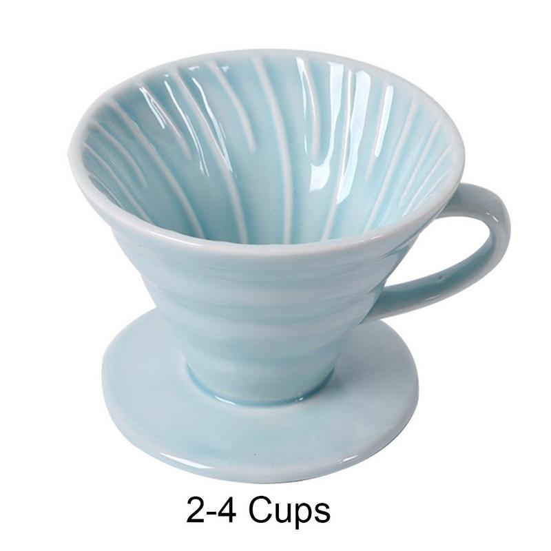 1-4 чашки V60 качество кофе капельный фильтр чашка керамическая кофе капельница двигатель постоянный залить над кофеварка с отдельной подста...(Китай)
