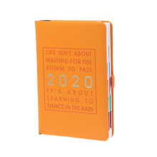 2020 утолщенный блокнот модная повестка дня A5 кожаный мягкий планировщик 2020 январь-дек журнал эффективности английский язык(Китай)