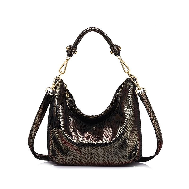 Realer Женщины Натуральная кожа сумки бренда женского Змеиный узор сумка высокого качества женская сумка с кисточкой(Китай)