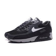 Оригинальные оригинальные мужские кроссовки для бега NIKE AIR MAX 90, дышащие Нескользящие кроссовки, удобная спортивная обувь(Китай)