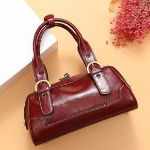 Женские сумки из натуральной кожи, роскошные сумки с двойной молнией, дизайнерские женские сумки на плечо из натуральной воловьей кожи, сум...(Китай)
