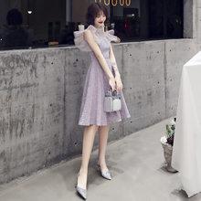 Платья для выпускного вечера It's Yiiya BR354 с высоким воротником, без рукавов, вечерние платья с блестящими блестками, Vestidos De Fiesta, вечерние платья...(Китай)