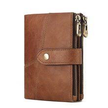 Кошелек KAVIS Rfid из 100% натуральной кожи, мужской кошелек, портфель для монет, мужской кошелек, качественный дизайнерский маленький держатель д...(Китай)