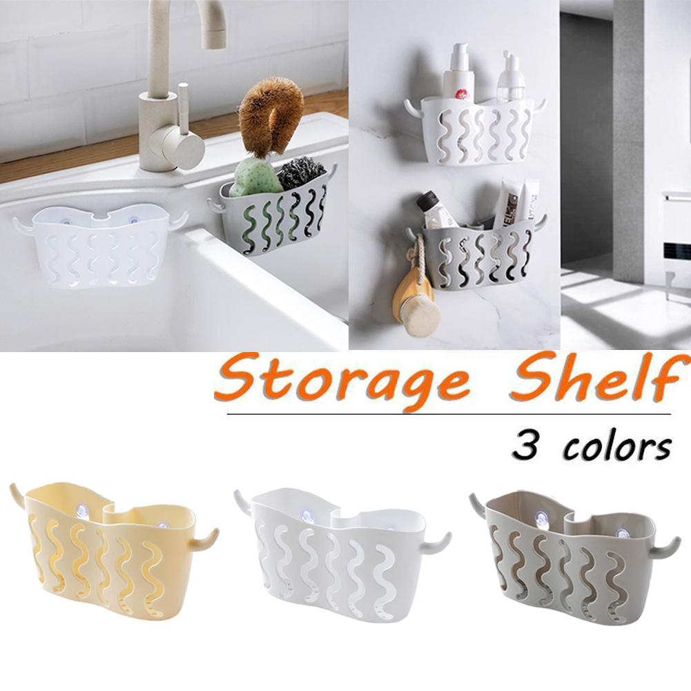 Kitchen Sink Drainer Holder Bathroom Storage Rack Shelf Soap Sponge Organizer
