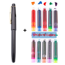 Набор прозрачных перьевых ручек, 11 шт./лот, 0,38 мм, 0,5 мм, 10 цветов(Китай)