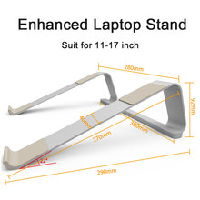 Портативная подставка для ноутбука 11-17 дюймов из алюминиевого сплава, подставка для ноутбука Macbook Air Pro, нескользящий кронштейн для охлажден...(Китай)