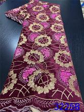 NIAI африканская бархатная кружевная ткань с блестками, нигерийская французская кружевная ткань, 2020 Высококачественная блестящая ткань для ...(Китай)