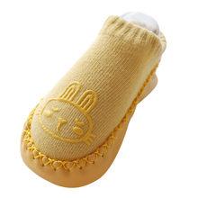 3 пары обуви для новорожденных носки-тапочки для мальчиков и девочек носки для малышей с героями мультфильмов детская нескользящая обувь с ...(China)