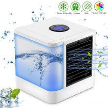 Увлажнители мини Кондиционер вентиляторы воздушного охлаждения USB портативный охладитель воздуха настольный мини вентилятор для офисного...(Китай)