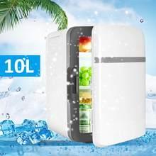 Портативные холодильники 10л с мини-охлаждением, теплые холодильники с морозильной камерой, дорожный обогреватель для авто, дома, офиса, пик...(Китай)