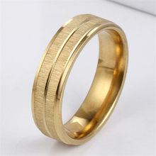 Новые золотые кольца для мужчин и женщин из нержавеющей стали, индивидуальные аксессуары, кольца для пар, обручальное кольцо, обручальное к...(Китай)