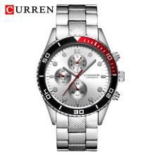 Мужские часы CURREN, армейские, спортивные, водонепроницаемые, со стальным ремешком, кварцевые, аналоговые(Китай)